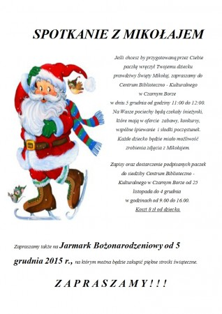 Plakat Mikołajki Jarmark