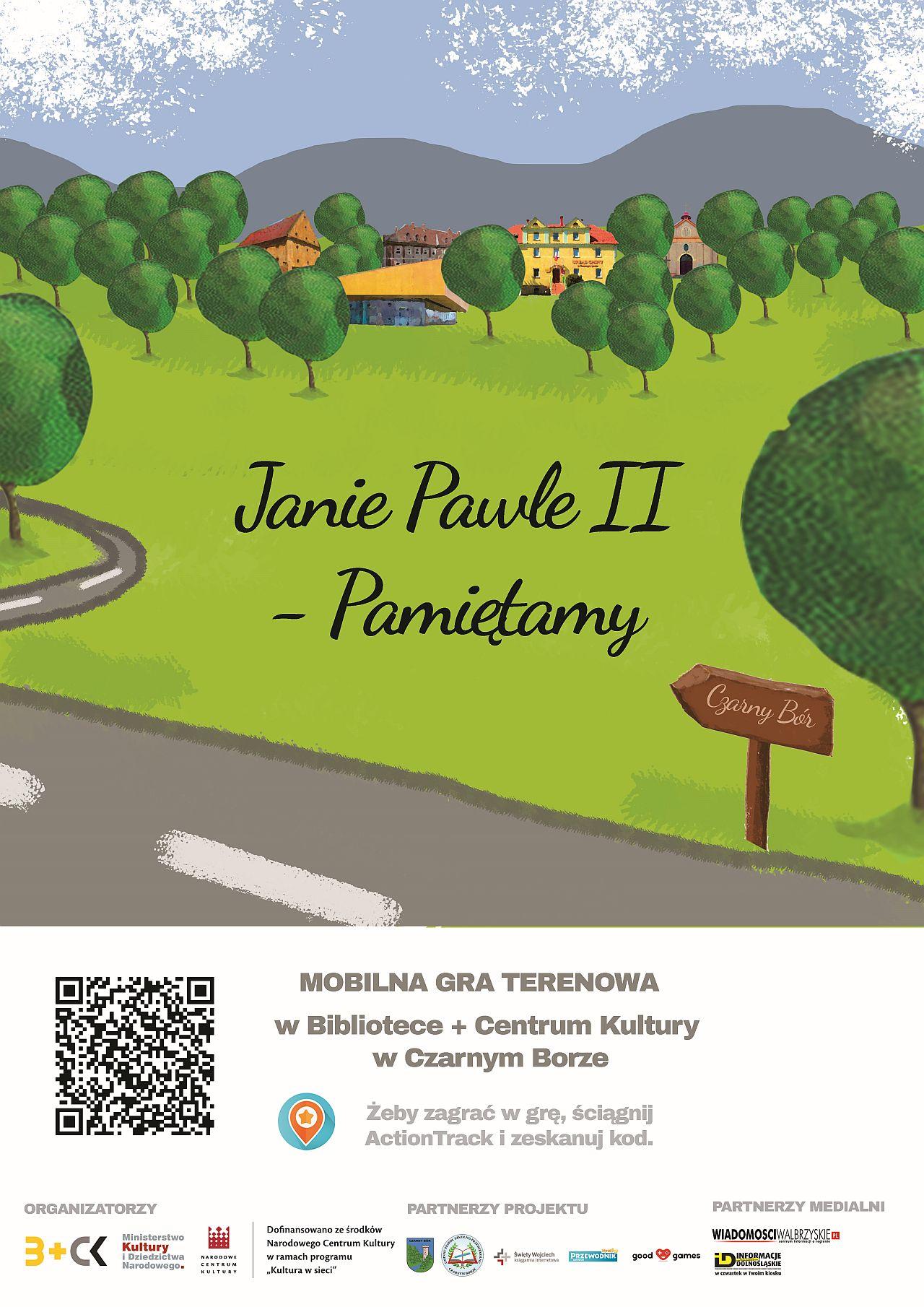 Plakat W sieci Jana Pawła 2