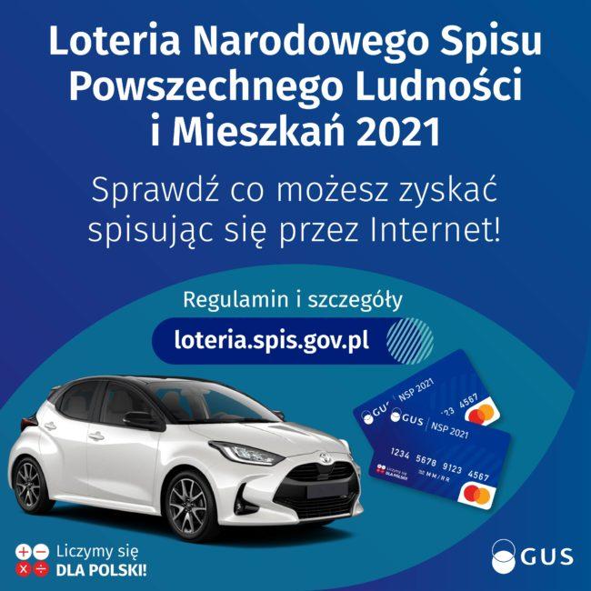 Plakat spis powszechny - loteria